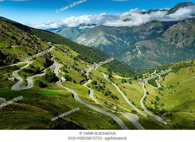 The Road Up To Luz Ardiden, Hautes Pyrenees, France
