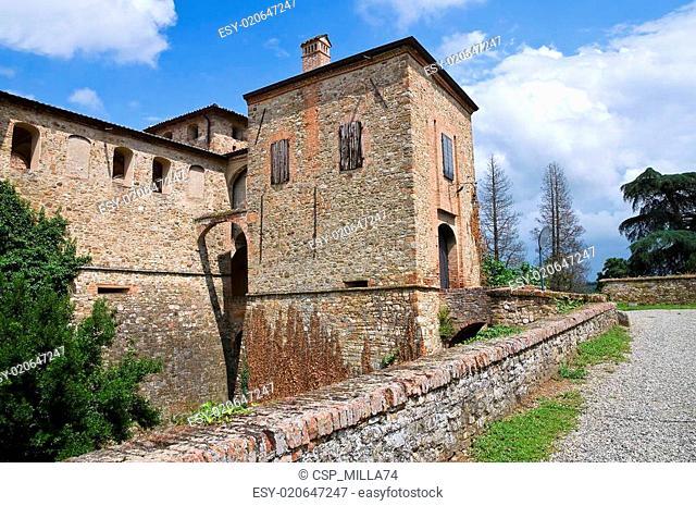 Castle of Agazzano. Emilia-Romagna. Italy