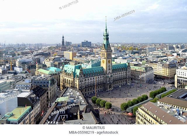 View on the city hall, Hamburg