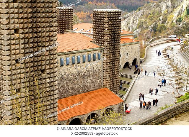 Panoramic view of Arantzazu Cathedral, Basque Country