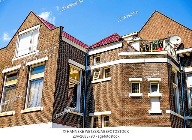 Typical houses of Zaandam, the Netherlands