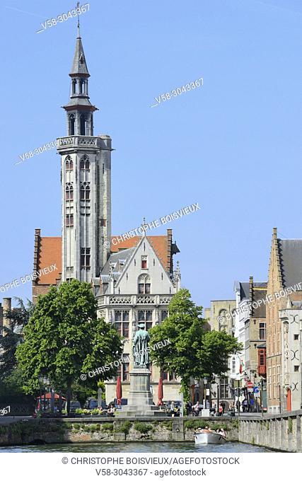 Belgium, Bruges, World Heritage Site, Jan Van Eyck square and former Hansa quarter