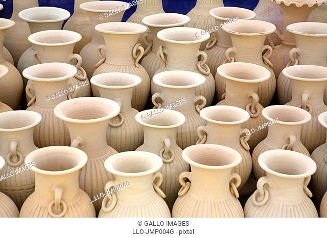 Full Frame View of Clay Pots  Hatta, United Arab Emirates