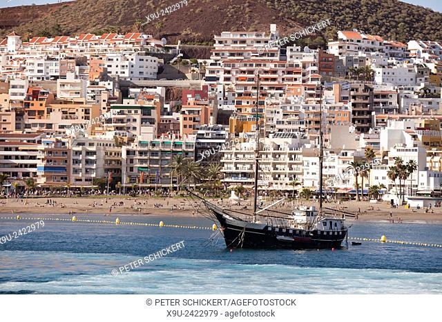 sailing boat in Los Cristianos, Tenerife, Canary Islands, Spain, Europe