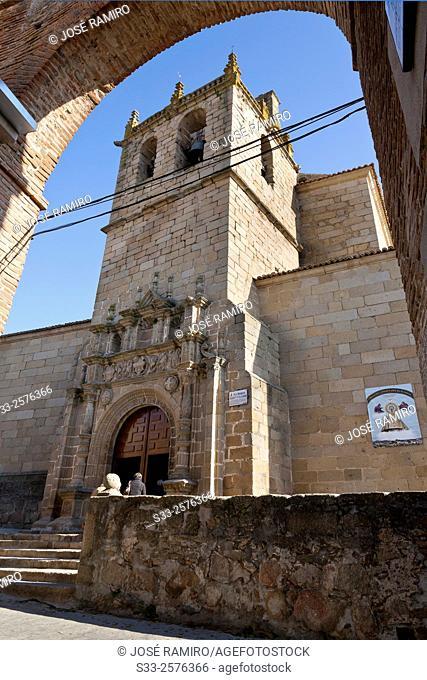 Asunción church in Oropesa. Toledo. Castilla la Mancha. Spain. Europe