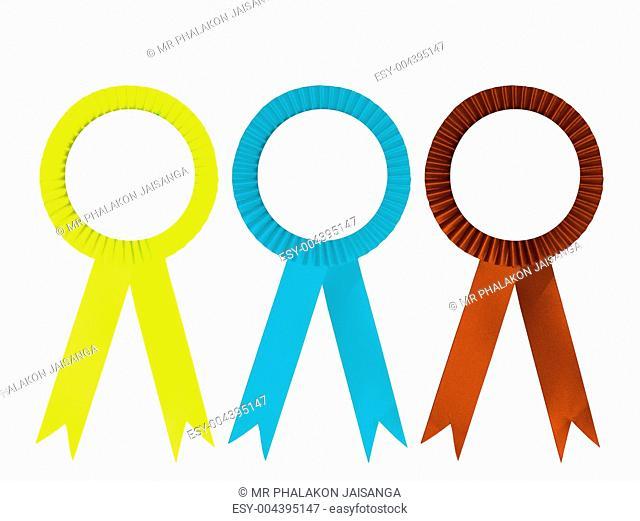 Ribbon award isolated