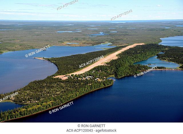 aerial, Kasba Lake, Northwest Territories, Canada