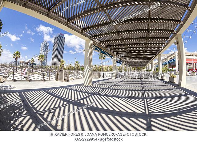 Harbour of Forum -Port del Forum-, Barcelona, Spain