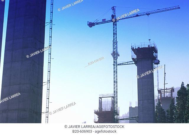 Flyover construction. Euskadi. Spain