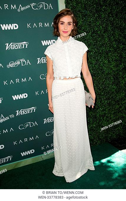 Celebrities attend CFDA Variety and WWD Runway to Red Carpet at Chateau Marmont. Featuring: Alison Brie Where: Los Angeles, California