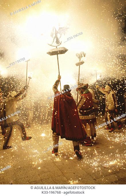 'Diables', local dancers. Santa Tecla festival. Tarragona. Spain