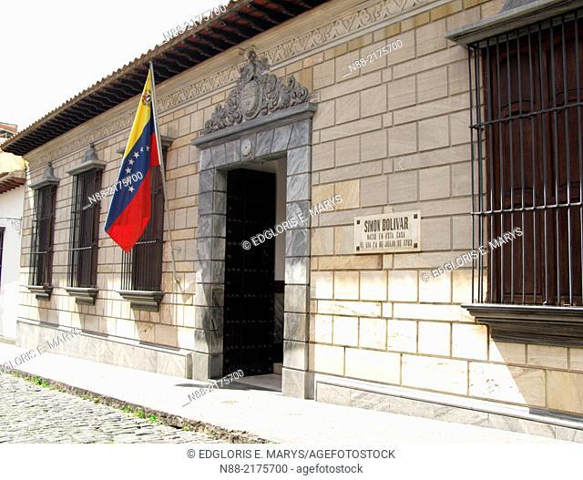 Birthplace house of Venezuelan Liberator Simon Bolivar, Caracas, Venezuela