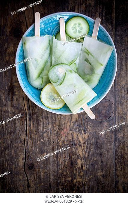 Cucumber-Lemon-Ice cream, Ice lollies