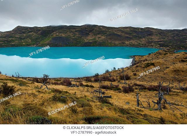 Torres del Paine National Park, Patagonia, Chile. South America. Lake Nordenskjol