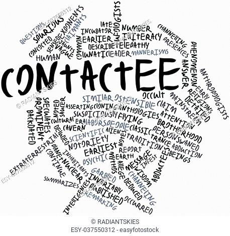 Abstract word cloud for Contactee with related tags and terms