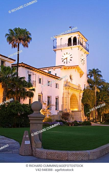 Santa Barbara County Courthouse, Santa Barbara, California, USA