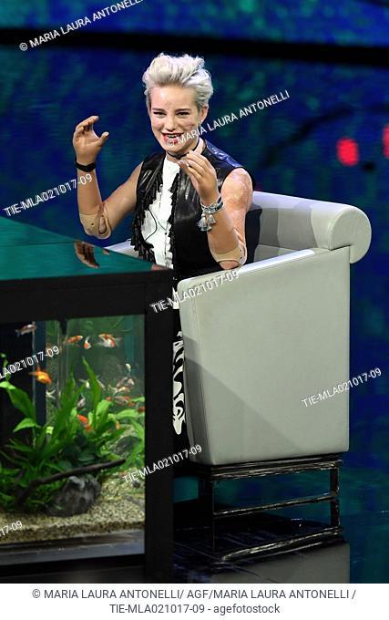 Paralympic athlete Bebe Vio guest at the tv show Che tempo che fa, Milan, ITALY-01-10-207