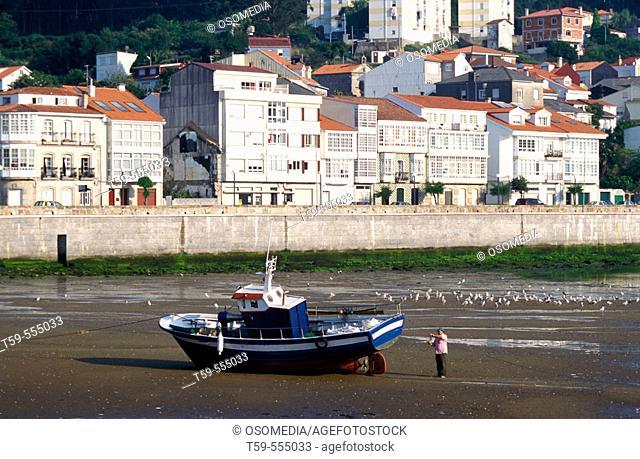 Corcubion at spanish Costa da Morte, Galicia, Spain