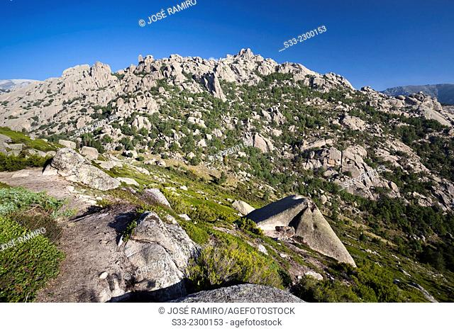 Pinganillos cliffs in The Pedriza. Regional Park of the Alto Manzanares. Manzanares el Real. Madrid. Spain. Europe