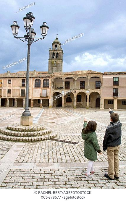Main Square of Medinaceli, Soria, Castilla y Leon, Spain Five thousand square meters of extension with notable buildings Under his soil they have found Roman...