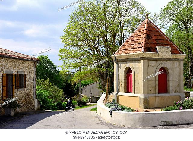 Shrine in a crossroads of Fanjeaux, Languedoc-Roussillon, France