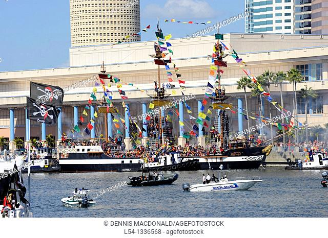 Gasparilla Pirate Boat during Festival Tampa Florida Hillsborough River