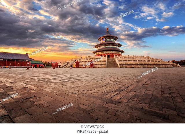 The temple of heaven in Beijing QiNianDian scenery