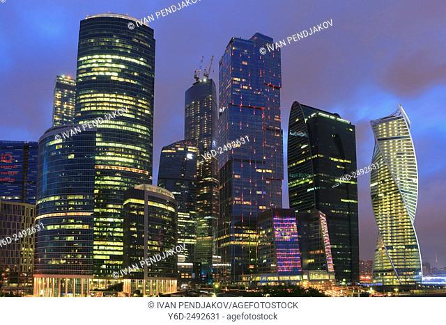 Moscow City at Dusk, Russia