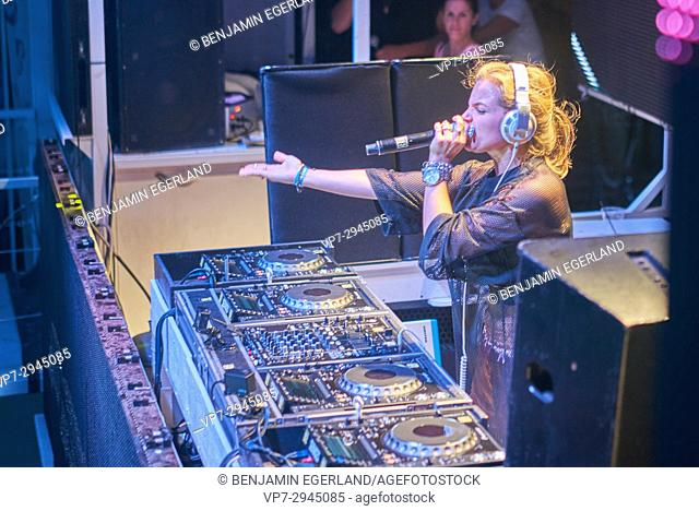 DJ Sophie Francis at music festival Starbeach on 07. August 2017, in Hersonissos, Crete, Greece