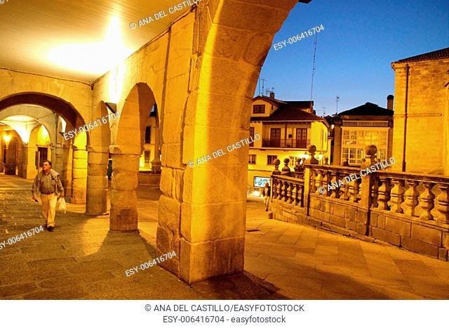Orense old city at dusk Galicia Spain