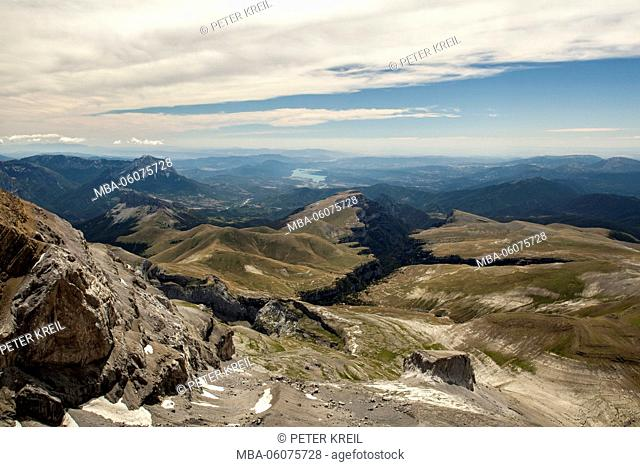 Spain, summit, the Pyrenees, national park, Monte Perdido, view