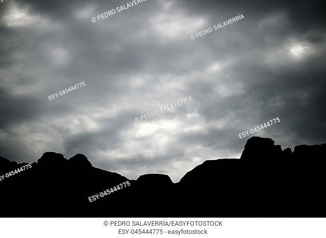 Peaks in Oza Valley, Pyrenees in Spain