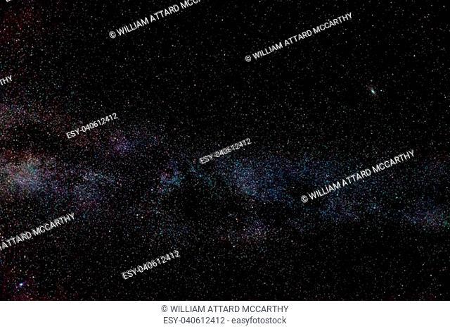 The Milky Way, accompanied by M51 Andromeda Galaxy