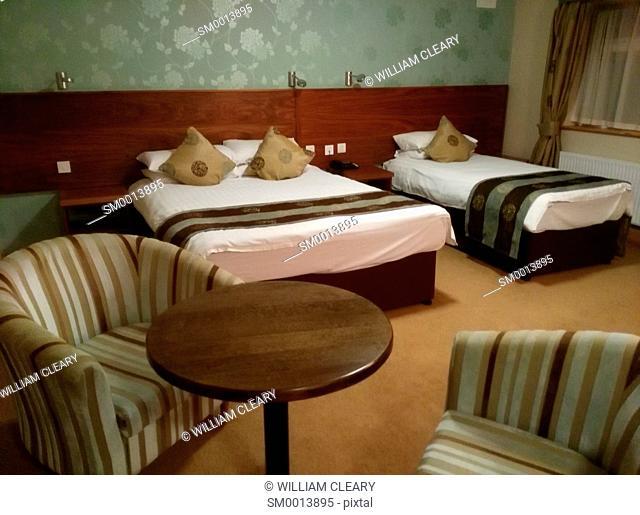 A hotel room in Ballaghaderreen, County Roscommon, Ireland