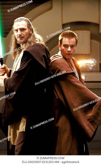 Sep 07, 2002; Hollywood, CA, USA; LIAM NEESON stars as Qui-Gon Jinn and EWAN MCGREGOR as OBI-WAN in 'Star Wars: Episode I The Phantom Menace' Directed by GEORGE...