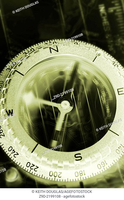 Compass concept with motion