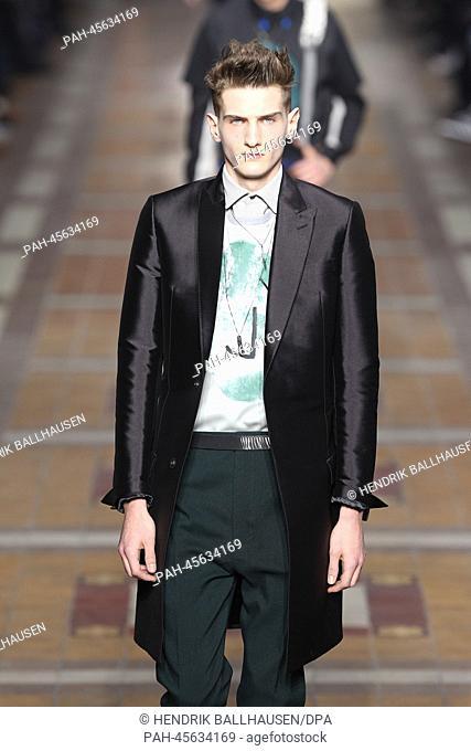 A model wears a creation by Lucas Ossendrijver as part of Lanvin  fall winter 2014 688024c26de