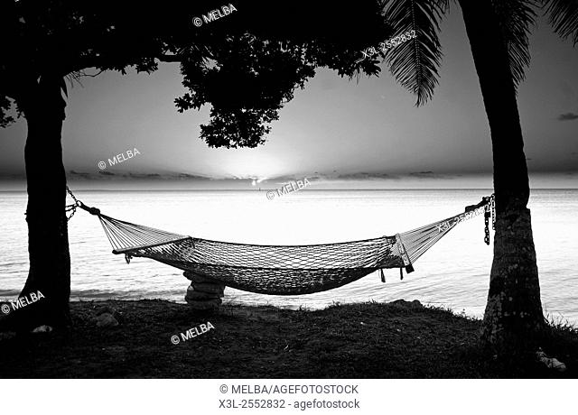 Hammock. Lifuka island. Ha'apai islands. Tonga. Polynesia