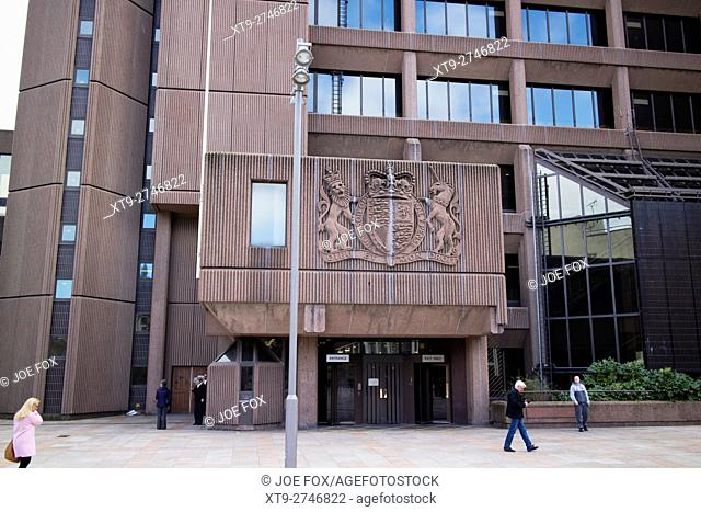 The Queen Elizabeth II law courts featuring Liverpool Crown Court Merseyside UK
