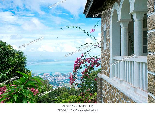 An old British Guard's House on Penang Hill, Malaysia during the British Colonial Era