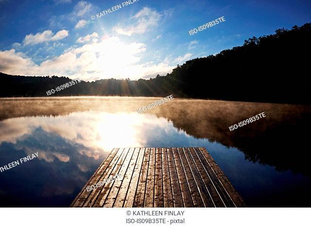 Lake with pier, Arrowhead Provincial Park, Ontario, Canada