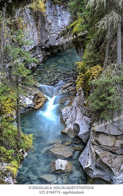 Johnston Creek in Johnston Canyon Banff National Park Banff Alberta Canada