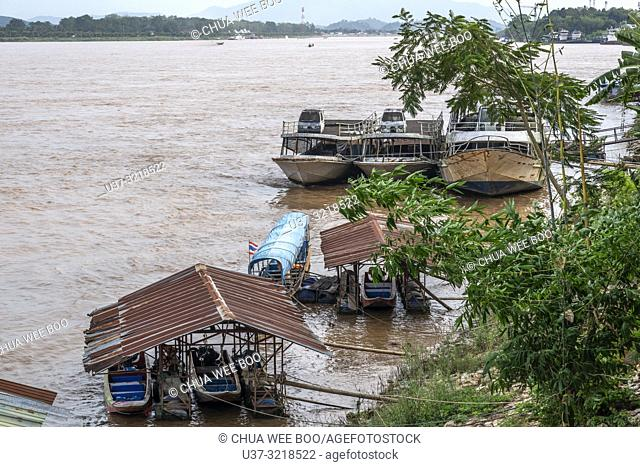 Mekong River at the Golden Triangle, Thailand