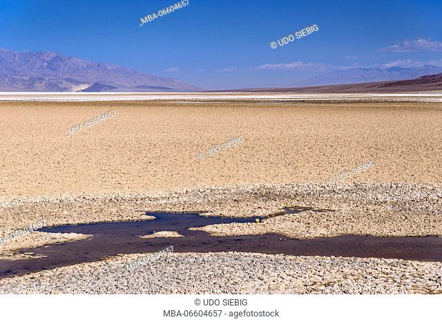 The USA, California, Death Valley National Park, Badwater Basin, Badwater