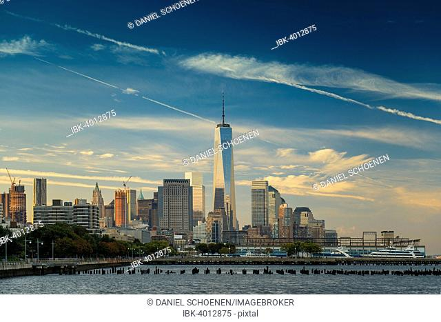 Skyline, morning light, Downtown, Manhattan, New York, United States
