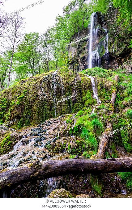 Urach waterfall in the Svabian Alps