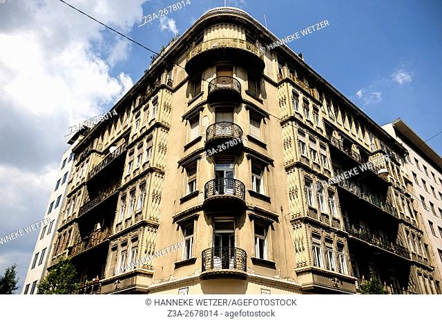 Typical architecture in Budapest, Hungary