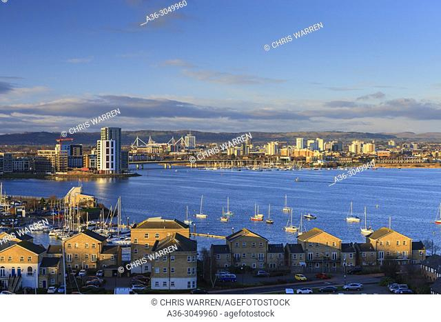 View over Cardiff Bay Cardiff Wales