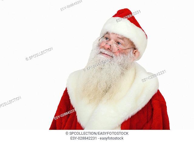 Santa Claus with reald beard (isolated)