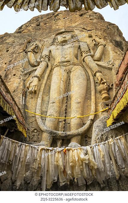Maitreya Future Buddha, Mulbek Monastery, Kargil, Jammu and Kashmir, India